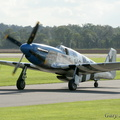 Taxying in after 'that' departure. Swansong for the UK's P-51C.